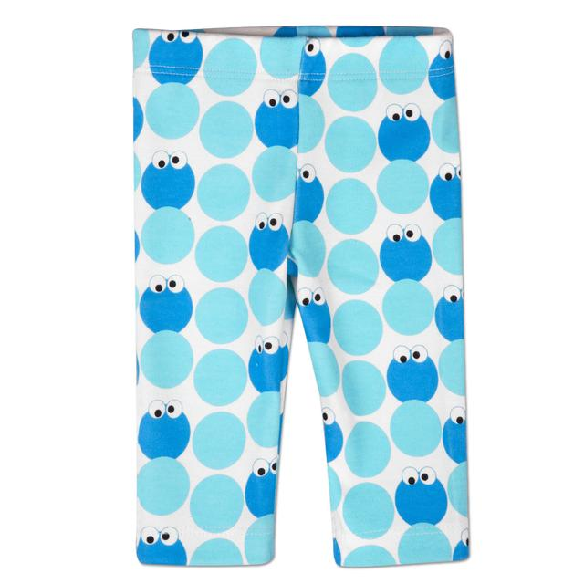 Sesame Street Cookie Monster Pattern Leggings