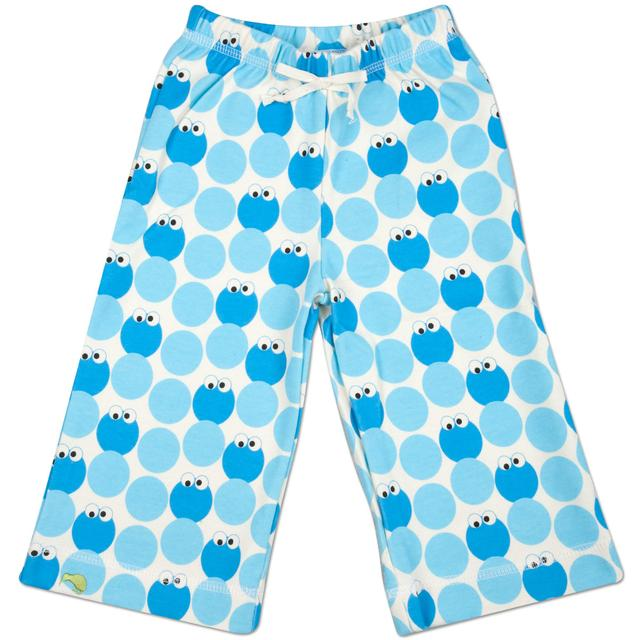 Sesame Street Cookie Monster Pattern Karate Pants