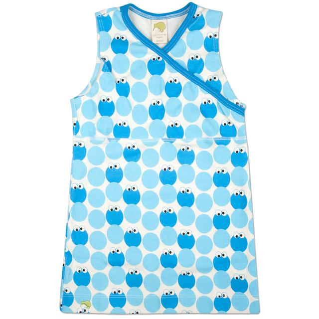 Sesame Street Cookie Monster Pattern Jumper Dress