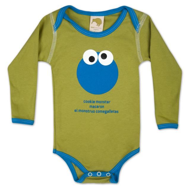 Sesame Street Cookie Monster Around the World Onesie