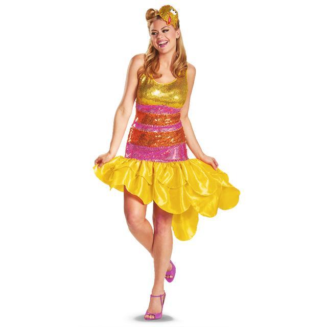 Sesame Street Big Bird Ladies Glam Costume