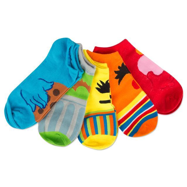 Sesame Street Juniors Assorted 5 Pack socks