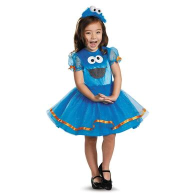 Sesame Street Cookie Monster Tutu Deluxe Youth Girls Costume