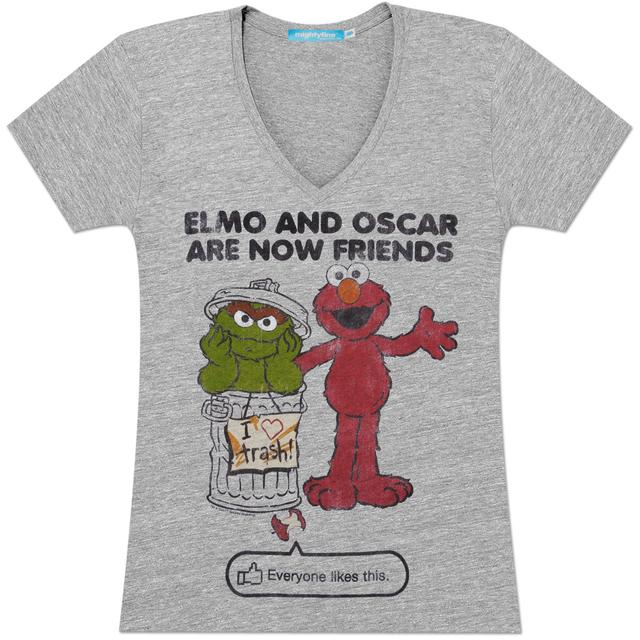 Sesame Street Elmo & Oscar Friends Juniors T-Shirt