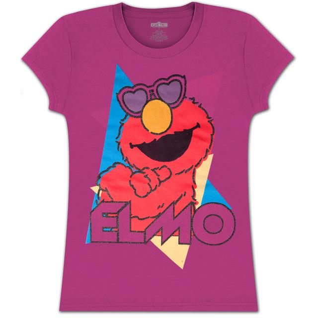 Sesame Street Elmo Heart Shades Girls Tee