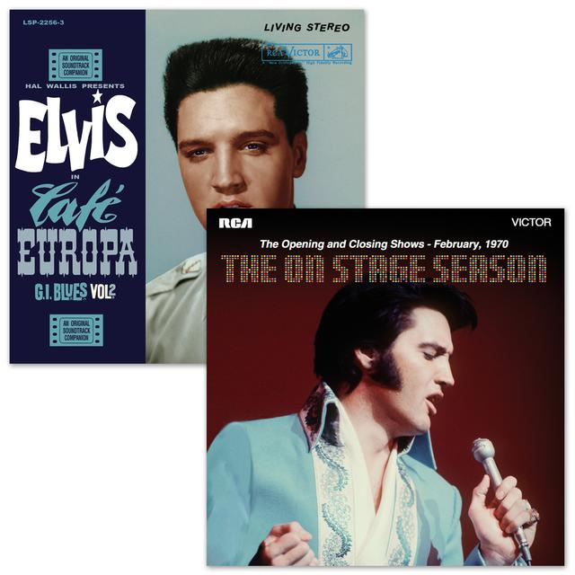 Elvis Café Europa GI Blues Vol 2 & The On Stage Season FTD CD Bundle