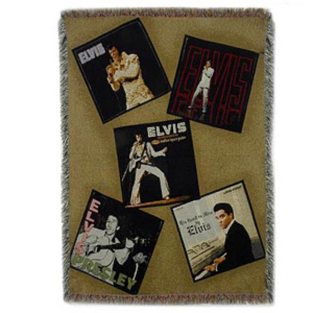 ELVIS Album Covers Throw
