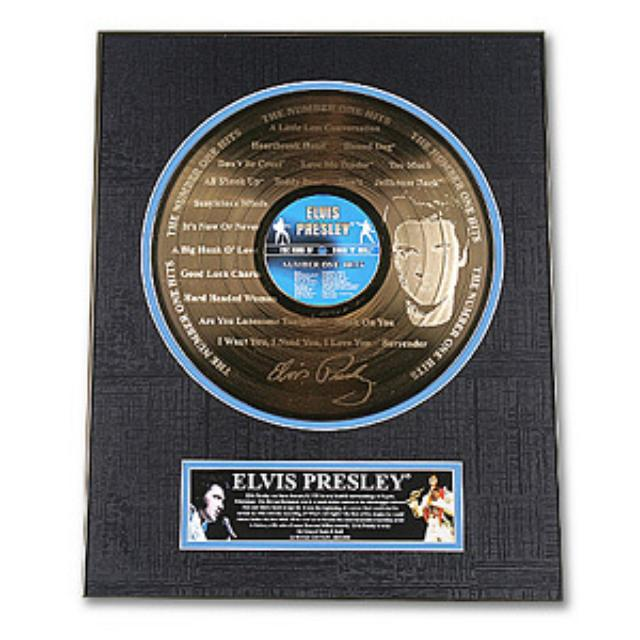 Elvis #1 Hits Framed Gold Record
