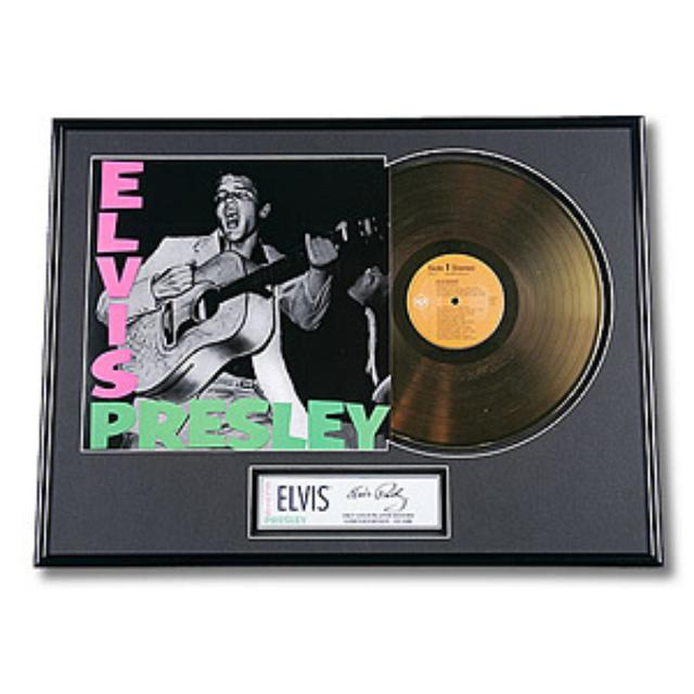 Elvis Presley Limited Edition Framed Gold Record