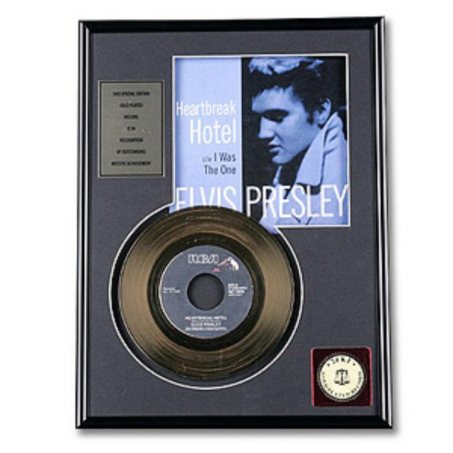 Elvis Heartbreak Hotel Framed Gold Record