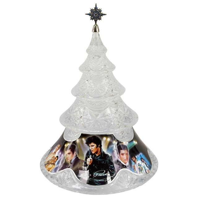 Rock N Roll Christmas Tree: Elvis Presley Crystal Christmas Tree