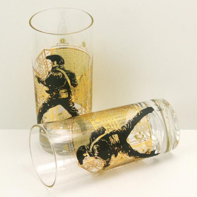 Elvis Presley Gates of Graceland Highball Glasses