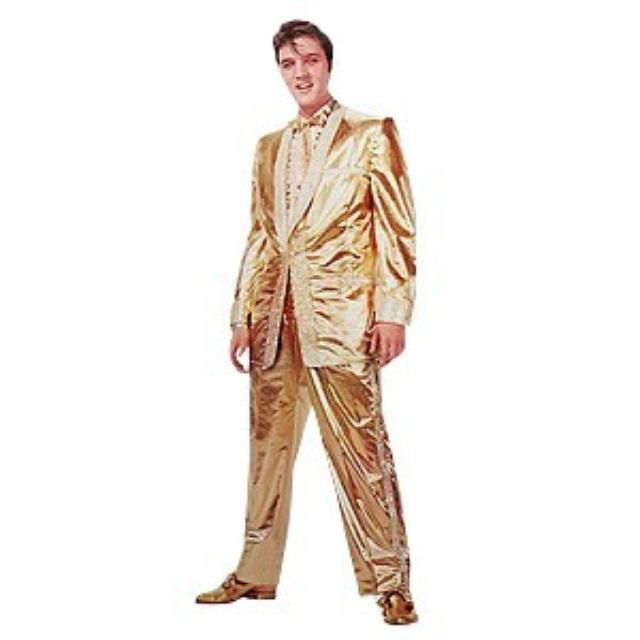 Elvis Nomad Wall Sticker - Gold Lame Suit