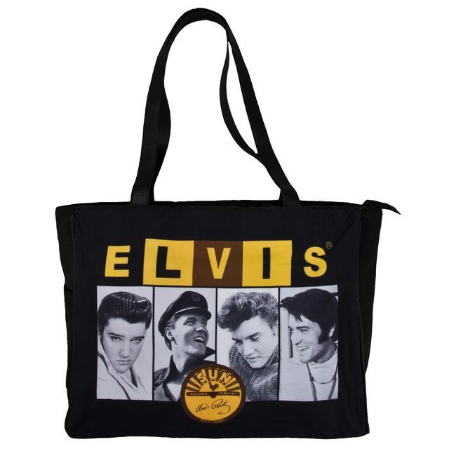 Elvis Sun Records Black Travel Tote Bag