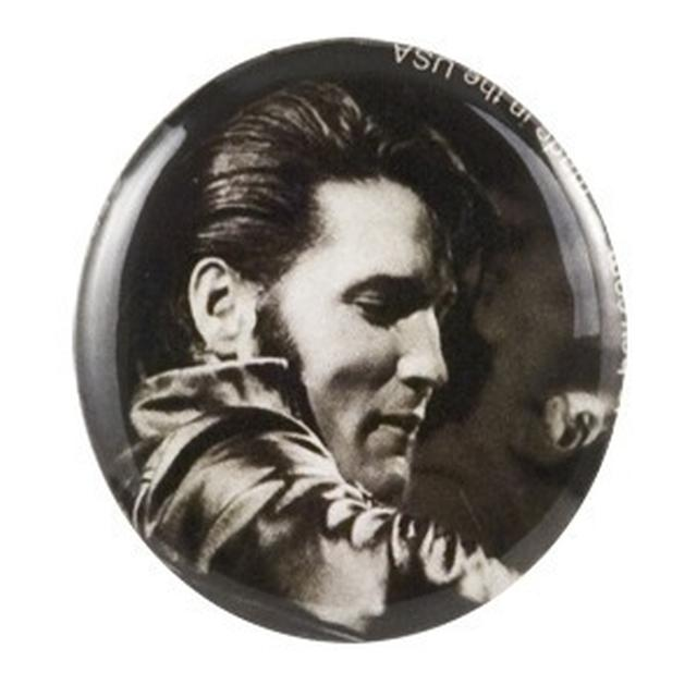 Elvis '68 Comeback Special Black/White Button