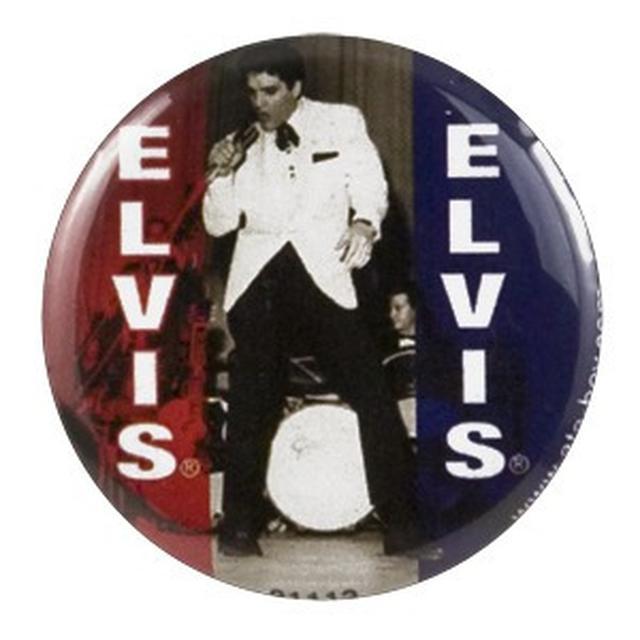 Elvis 50s Black/White Button