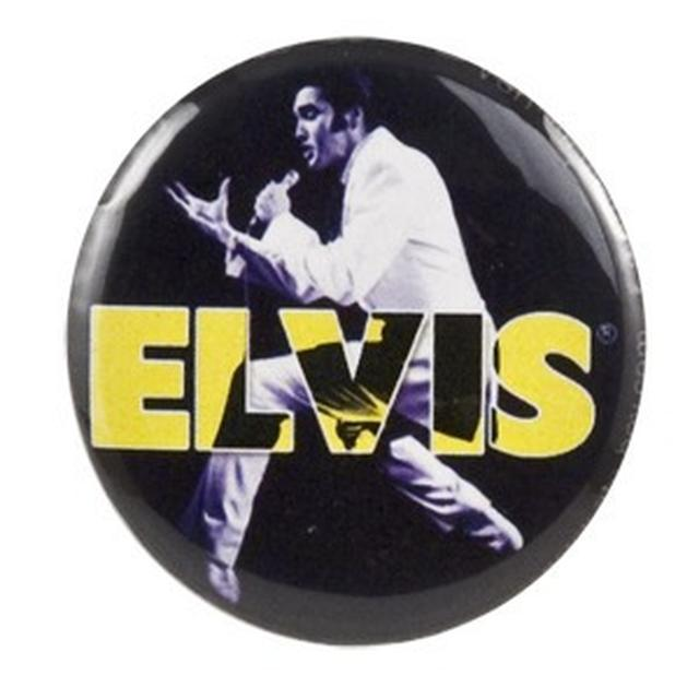 Elvis White Suit Button
