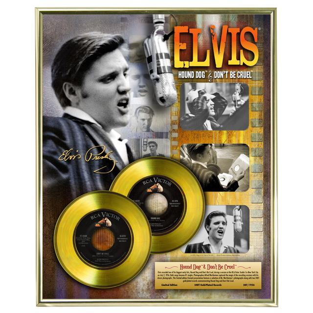 Elvis Presley Hound Dog and Don't Be Cruel Limited Edition Framed Gold Record