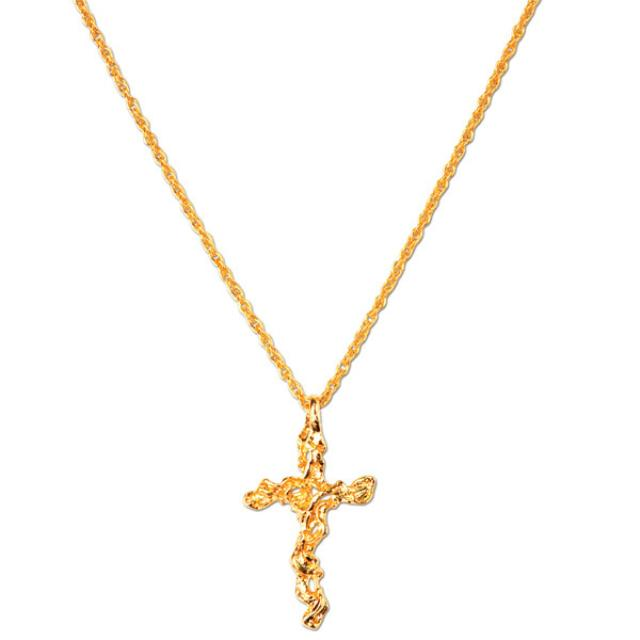 Elvis Adjustable Nugget Cross Necklace
