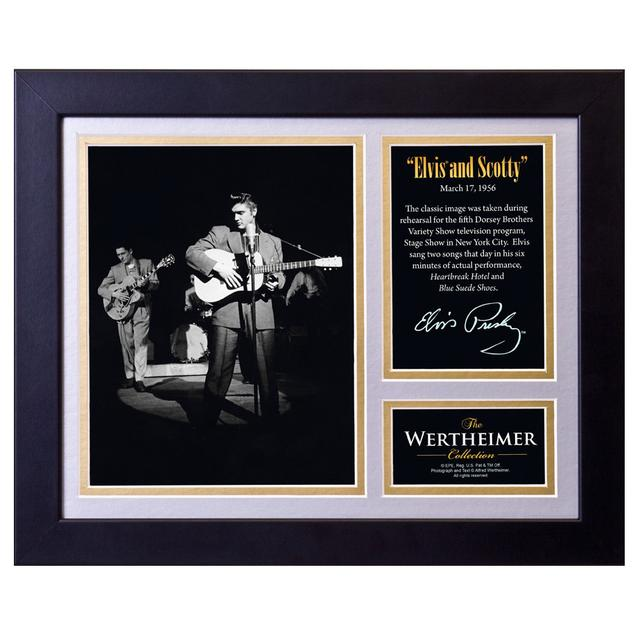 Elvis and Scotty Framed and Matted Photo