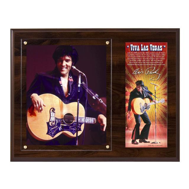 Elvis Viva Las Vegas Photo Plaque