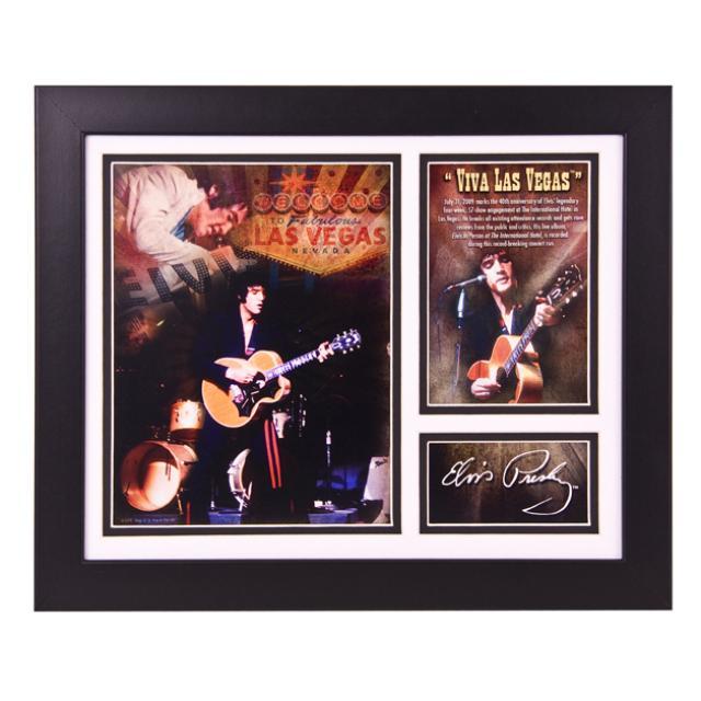Elvis Viva Las Vegas Framed & Matted Photo