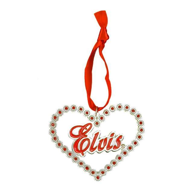 Elvis Heart Stones Ornament