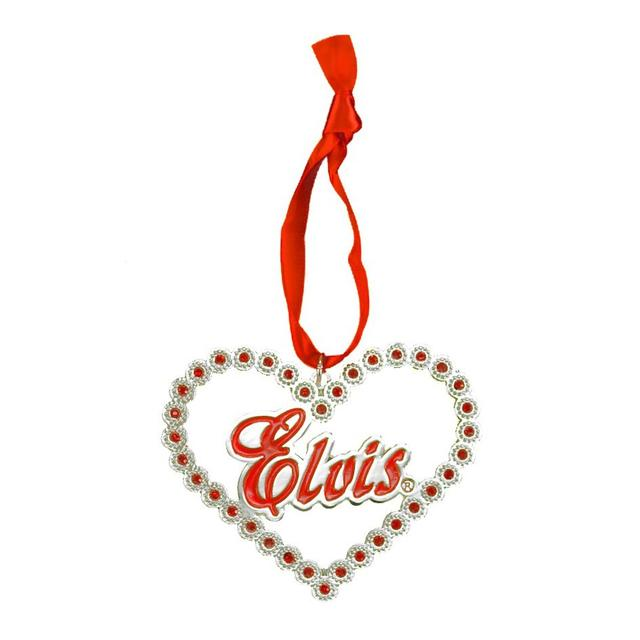 Elvis Heart Stones Ornament