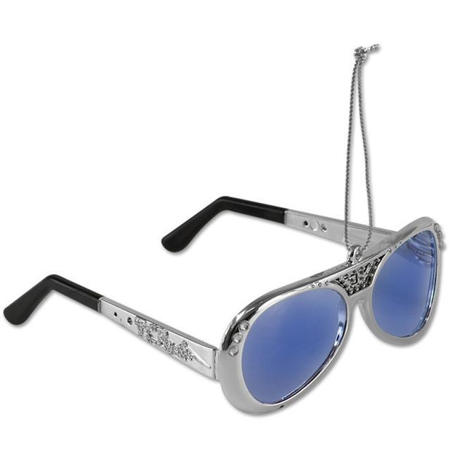 Elvis 70's Silver Sunglasses Ornament