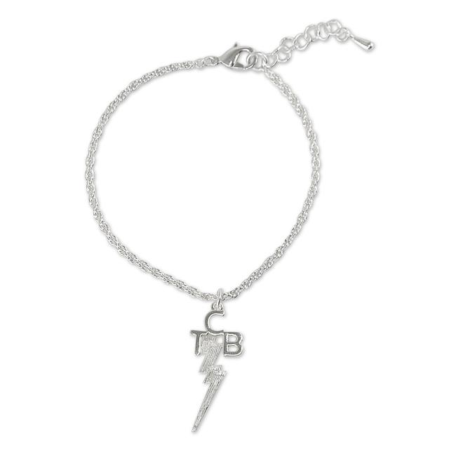 Elvis TCB Silver Plated Bracelet