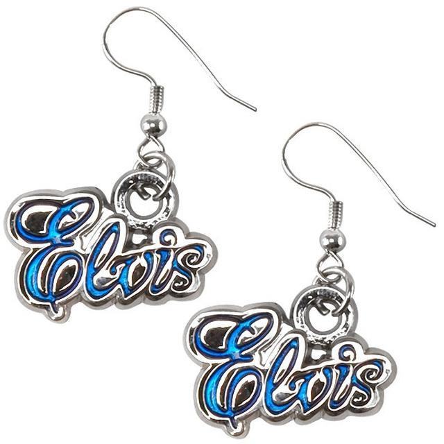Elvis in Blue Pierced Earrings