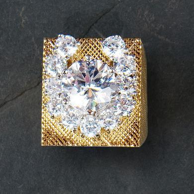 Elvis 18kt Gold Plated Aloha Horseshoe Ring