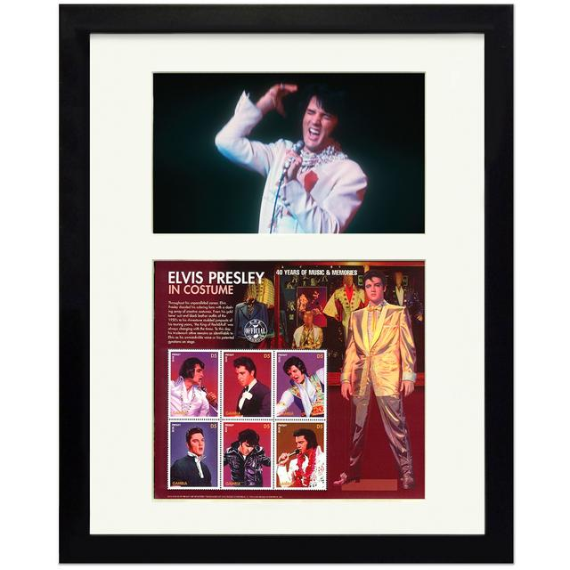 Elvis In Costume Framed Collectible Stamps