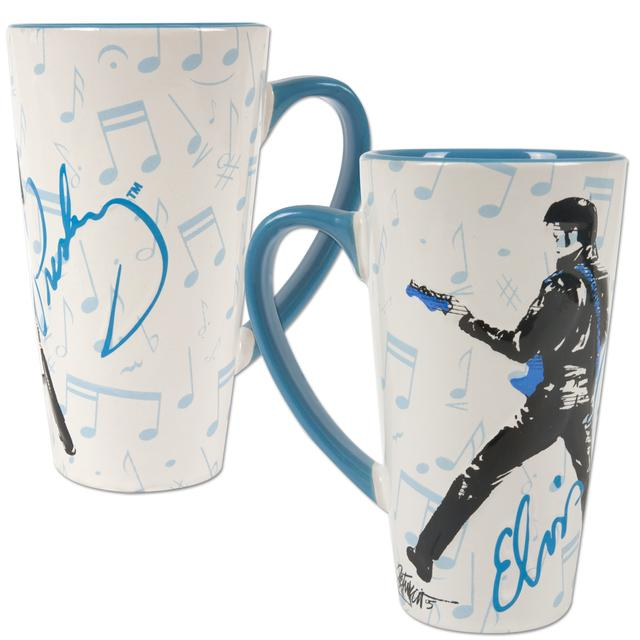 Elvis '68 Sheet Music Latte Mug
