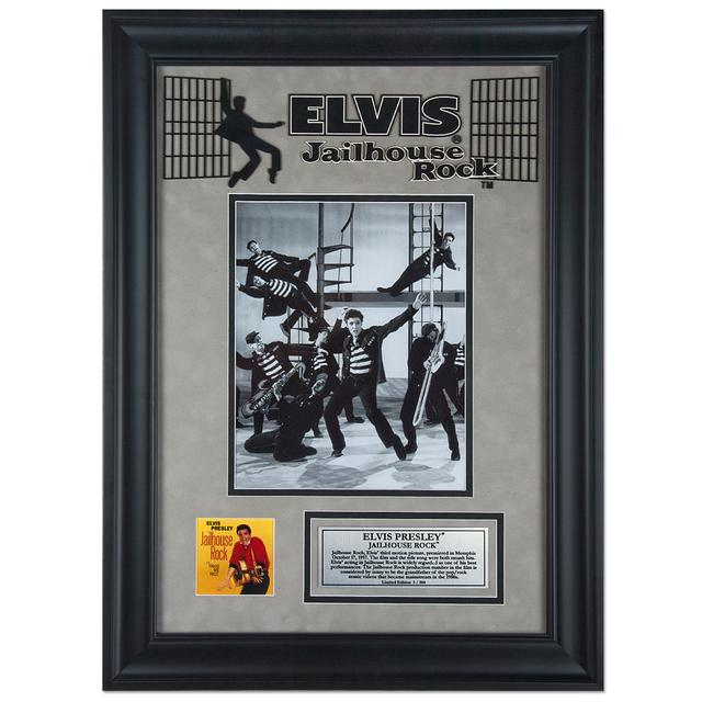 "Elvis Jailhouse Rock 16"" x 23"" Framed Presentation"
