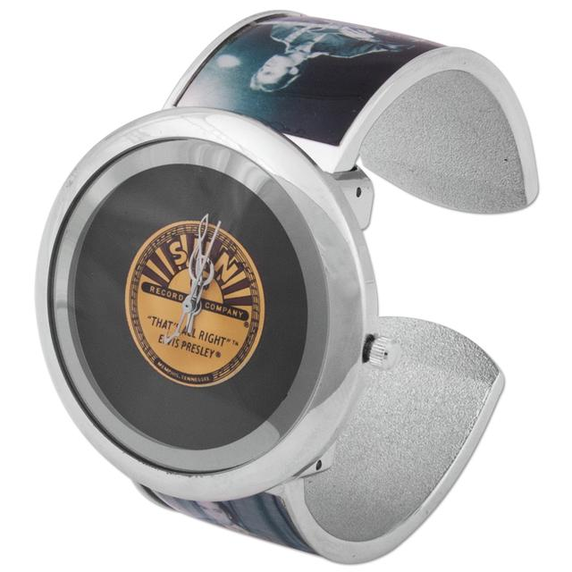 Sun Records Elvis Black and White Picture Bangle Watch