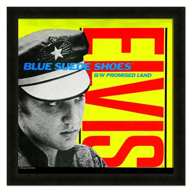 Elvis Blue Suede Shoes Framed 20x20 Album Cover Art