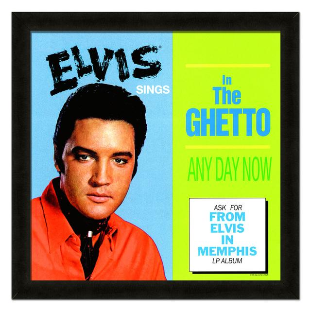 Elvis In the Ghetto Framed 20x20 Album Cover Art
