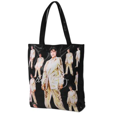 Elvis Gold Lame Black Shoulder Bag