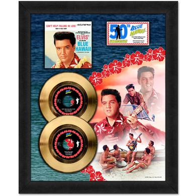 Elvis Blue Hawaii Gold 45RPM Framed Presentation