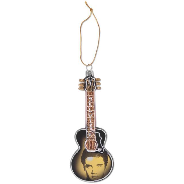 Elvis Glass Face Guitar Ornament