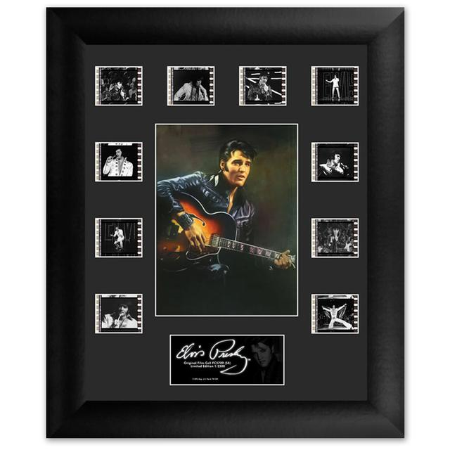 Elvis '68 Special Mini Montage Filmstrip Framed Presentation