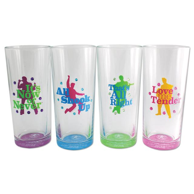 Elvis Neon Hi-Ball Glasses Set of 4