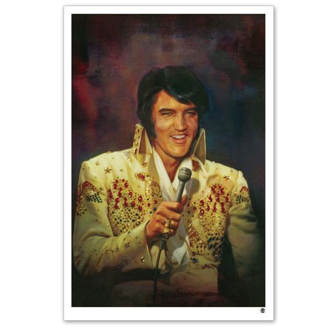 "Elvis Jumpsuit 20x30"" Giclée Print on Canvas"
