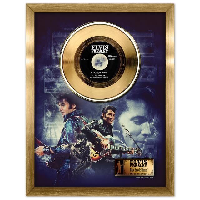 Elvis Blue Suede Shoes Framed Gold Record