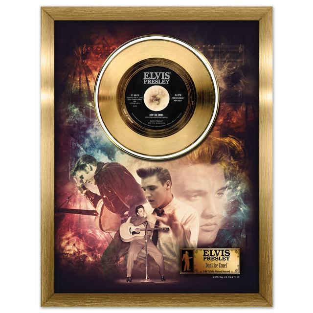Elvis Don't Be Cruel Framed Gold Record