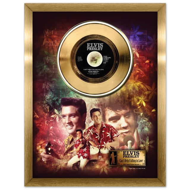 Elvis Can't Help Falling in Love Framed Gold Record