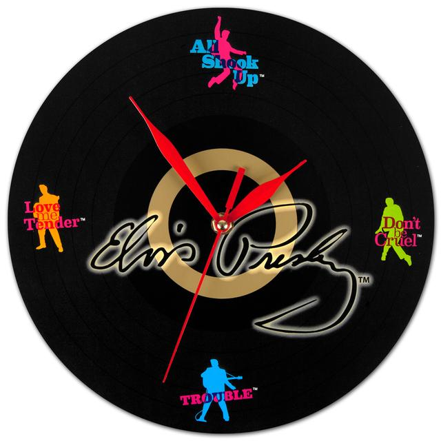 Elvis Wooden Record Wall Clock