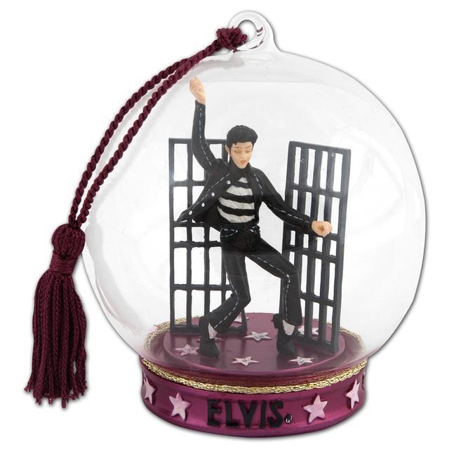 Elvis Jail House Rock Globe Ornament