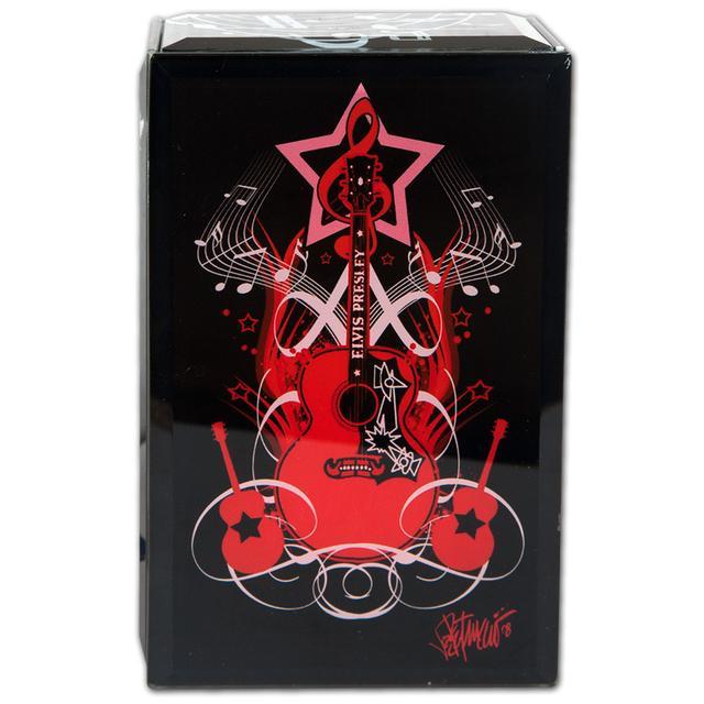 Elvis Black Glass Music Box